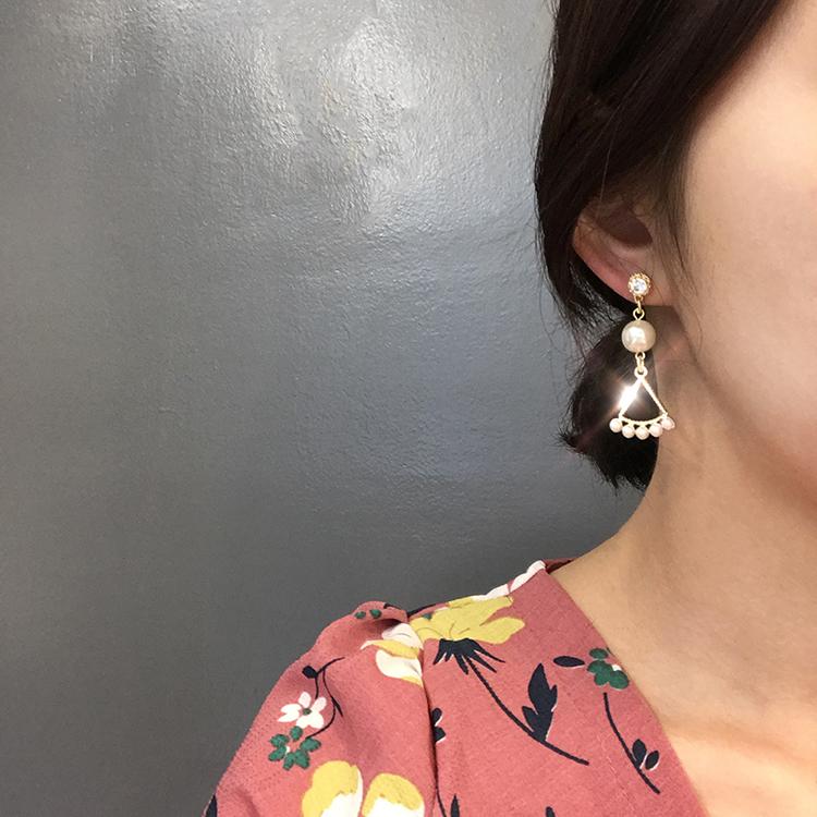 프린세스 진주 드롭귀걸이 - 라라리빠, 11,900원, 실버, 드롭귀걸이
