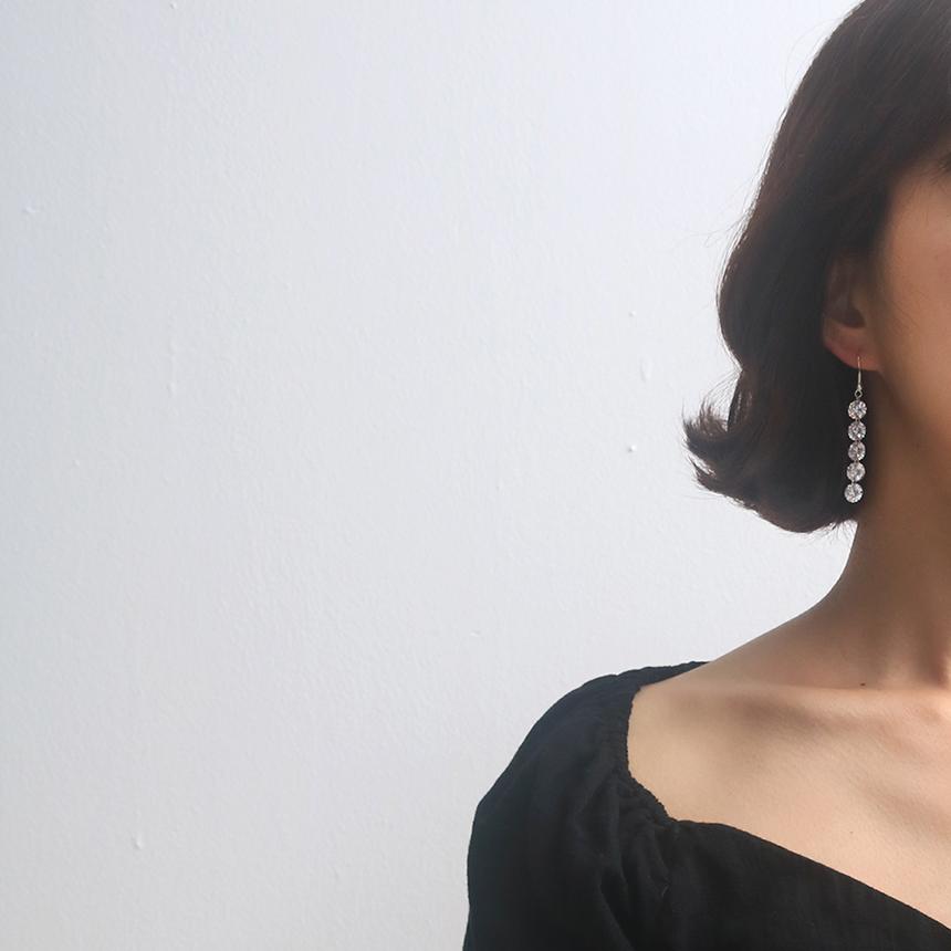 크리스탈 드롭 귀걸이 - 라라리빠, 13,900원, 진주/원석, 드롭귀걸이