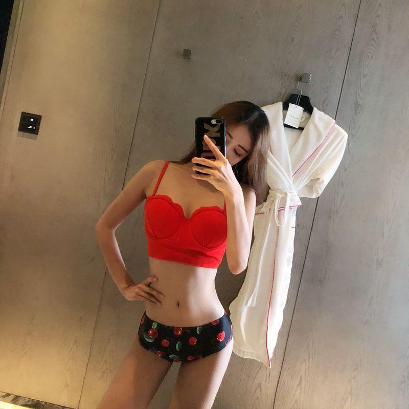 레드 튤립 3PCS 비키니세트 수영복 비치웨어 여자 바캉스 - 라라리빠, 42,000원, 수영복/래쉬가드, 수영복