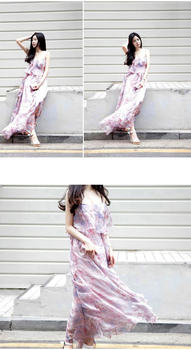 휴양지룩 비치 롱원피스 쉬폰 나시 여자 뷔스티에 - 라라리빠, 44,800원, 수영복/래쉬가드, 수영복